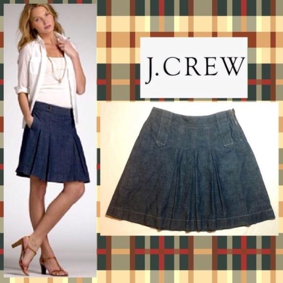 J. Crew Dresses & Skirts - J. Crew women's denim pleated skirt, size 8
